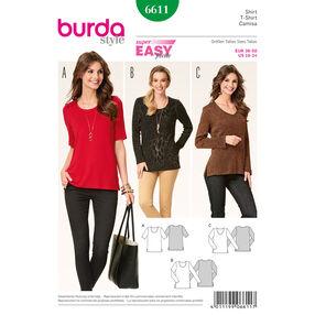 Burda Style Pattern 6611 Shirt