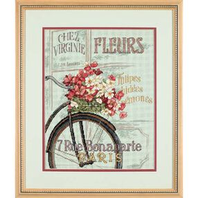 Parisian Bicycle, Counted Cross Stitch_35195
