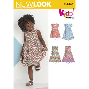 New Look Pattern 6442 Child's Easy Wrap Dresses