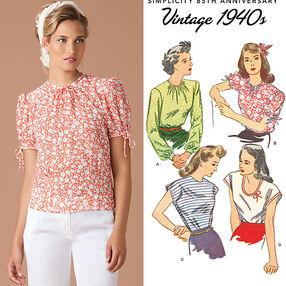 Misses' 1940's Vintage Tops