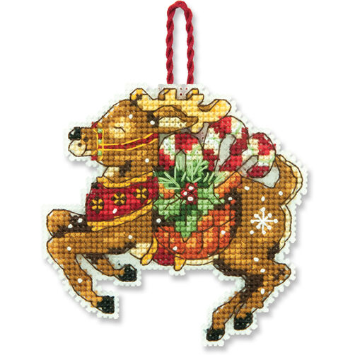 Reindeer Ornament, Counted Cross Stitch_70-08916