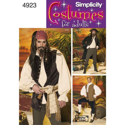 Simplicity Pattern 4923 Men's Costumes