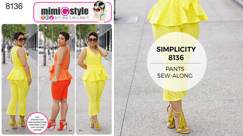Simplicity Pattern 8136 Mimi G Style Cropped Pants