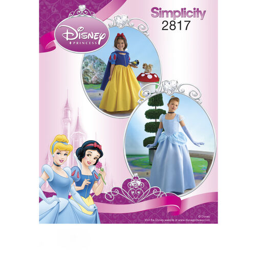 Simplicity Pattern 2817 Disney Princess Costumes for Children & Girls