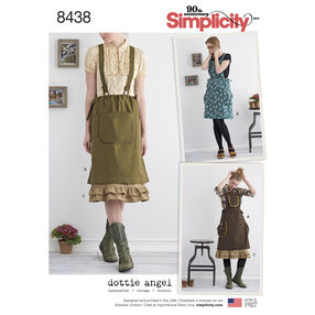 Pattern 8438 Misses' Jumper with Suspenders and Petticoat