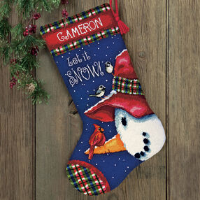Snowman Perch Stocking, Needlepoint_71-09149