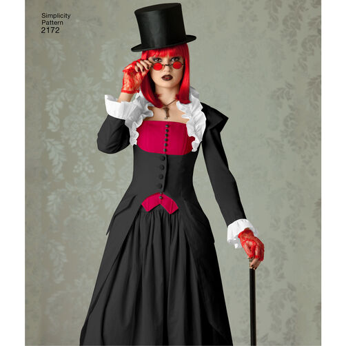 Pattern for Misses' Steampunk Costume | Simplicity