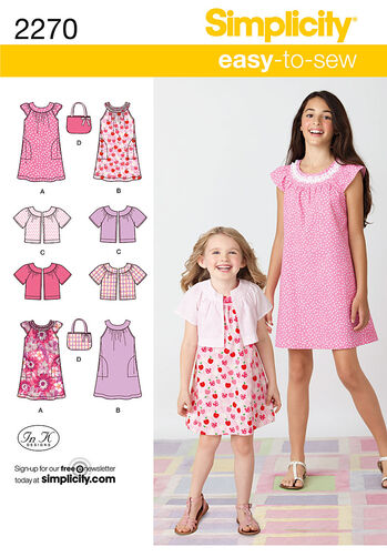 Simplicity Pattern 2270 Child's & Girl's Easy to Sew Dresses