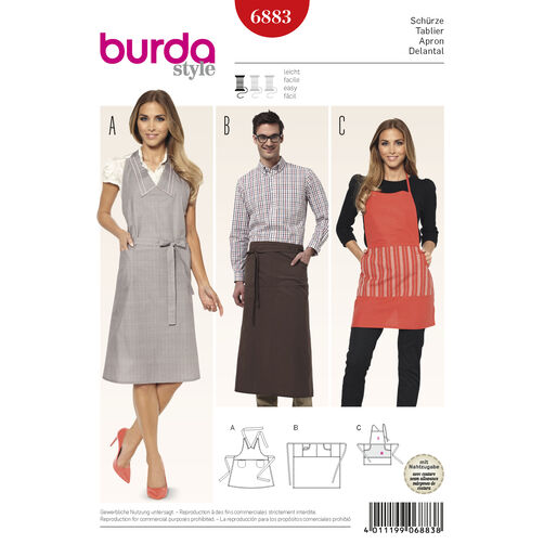 Burda Style Pattern 6883 Creative, Doll Clothes, Accessories