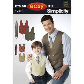 It's So Easy Pattern 1745 Boy's and Men's Vest