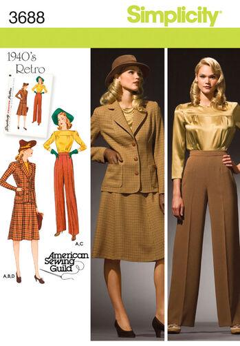 Misses' & Plus Size 1940's Vintage Sportswear