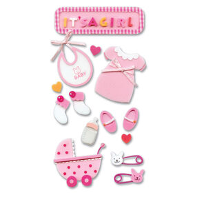 Foam Baby Girl Stickers_SPJH007