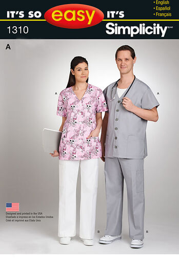 Misses' and Men's Scrub Top and Pants
