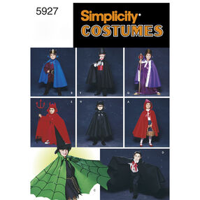Simplicity Pattern 5927 Child's Cape Costumes