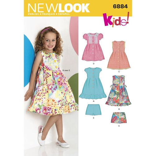 New Look Pattern 6884 Child's Dresses
