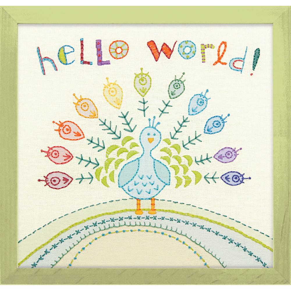 25 30 30 Helloworld: Hello World, Embroidery_71-01548