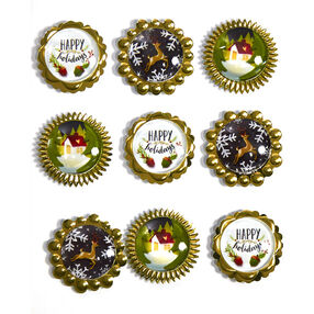 Christmas Button Stickers_50-21804