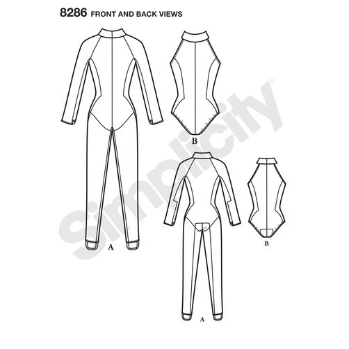 Simplicity Pattern 8286 Misses' Knit and Woven Jumpsuit