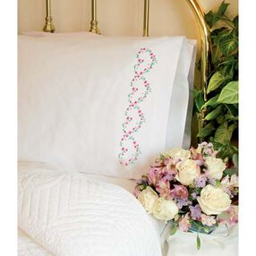 Rose Hearts Pillow Cases, Embroidery_73201