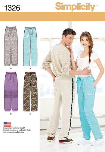 Misses' and Men's Track Pants