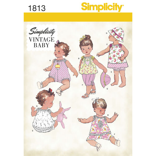 Simplicity Pattern 1813 Babies' Vintage Dress & Separates