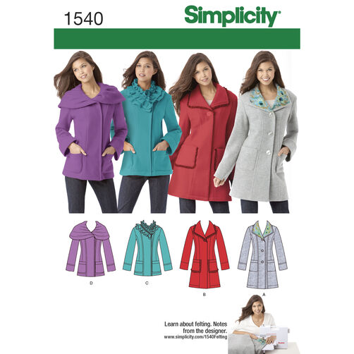 Simplicity Pattern 1540 Misses' & Miss Petite Jackets