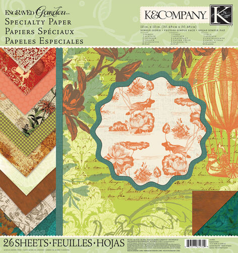 Engraved Garden 12x12 Specialty Paper Pad_30-619319