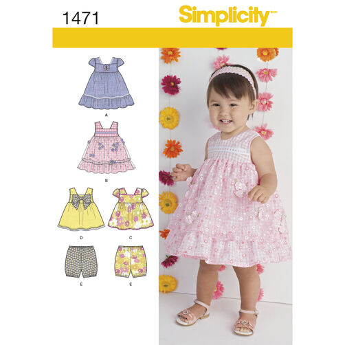 Simplicity Pattern 1471 Babies' Dress, Top and Bloomers