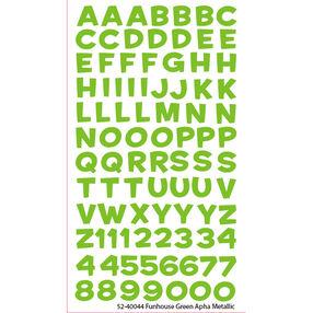 Funhouse Green Alpha Metallic Stickers_52-40044
