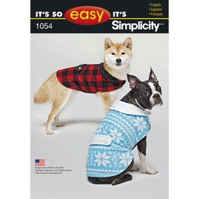 It's So Easy Pattern 1054 Dog Coat