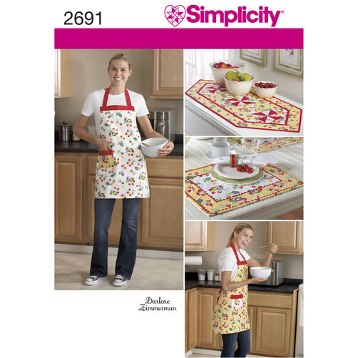 Simplicity Pattern 2691 Crafts: Apron & Table Linens
