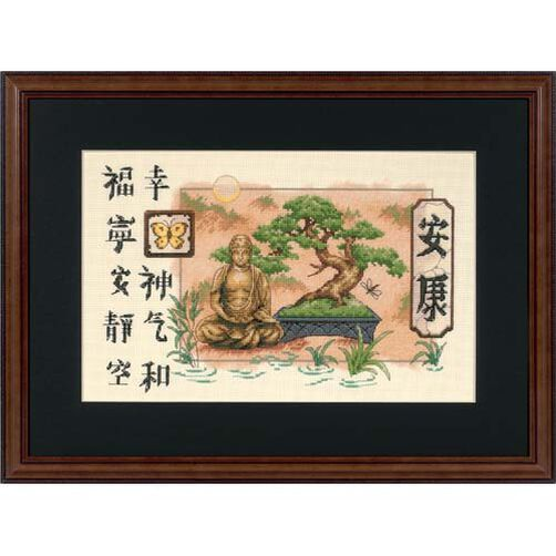 Bonsai and Buddha, Counted Cross Stitch_35085