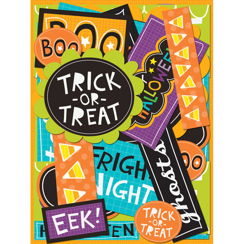 Spooktacular Words Die-Cut Cardstock_30-592650