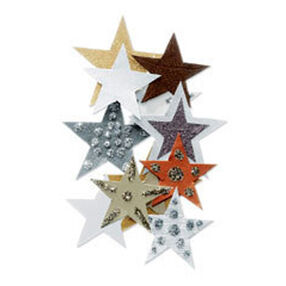 Gold and Brown Stars Embellishment_JJCA012B