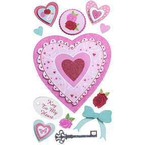Layered Hearts Stickers_52-31020