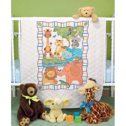 ModZoo Quilt, Stamped Cross Stitch_73507