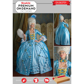 Simplicity Pattern EA363701 Premium Print on Demand Costume Pattern