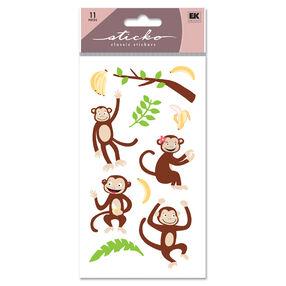 Monkey Glitter Classic Stickers_SPLFB27