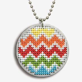 Chevron Finished Pendant, Counted Cross Stitch_72-74087