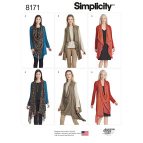Pattern 8171 Misses' Knit Cardigan or Vest