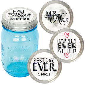 Wedding Jar Toppers, Counted Cross Stitch_72-74304