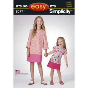It's So Easy Pattern 8077 Dresses for Child and Girl