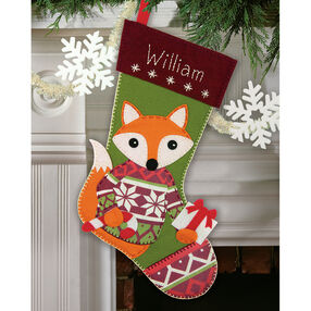 Woodland Stocking, Felt Applique_72-08283