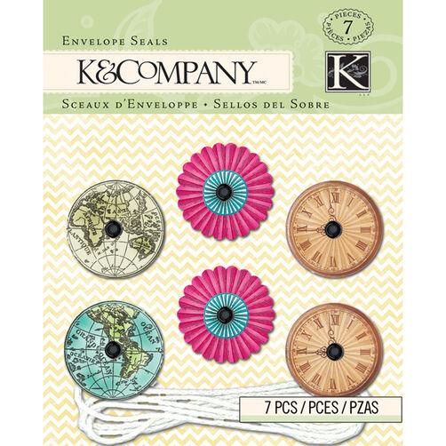 K&Company Beyond Postmarks String Clasp Envelope Seals_30-657793