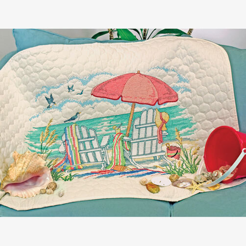 At the Beach Quilt, Stamped Cross Stitch_70-03242