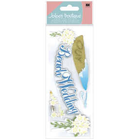 Beach Wedding Title Stickers_50-60111
