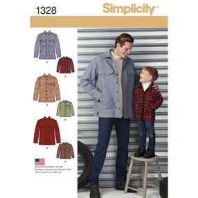 Boys' and Men's Shirt Jacket