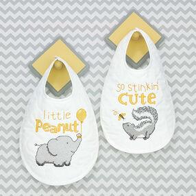 Stinkin' Cute Bibs, Stamped Cross Stitch_70-74829
