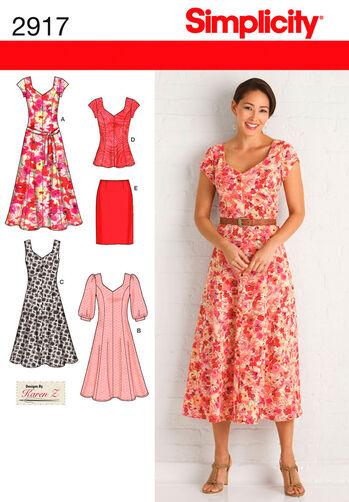 Pattern For Misses Amp Plus Size Dresses Simplicity