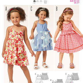 B9389 Toddlers' Dress